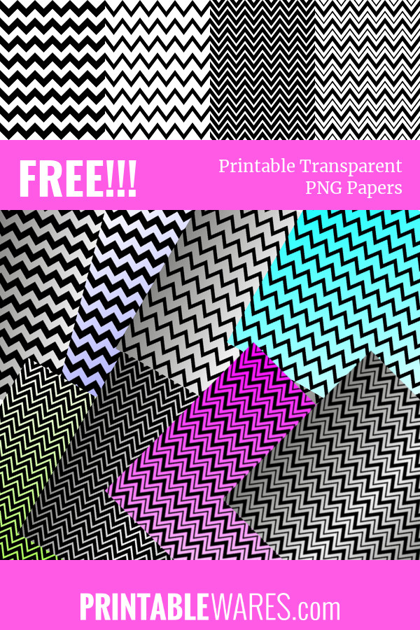 Free Black & White Chevron Printable Digital Papers