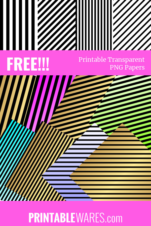 Free Black and White Striped Background Papers