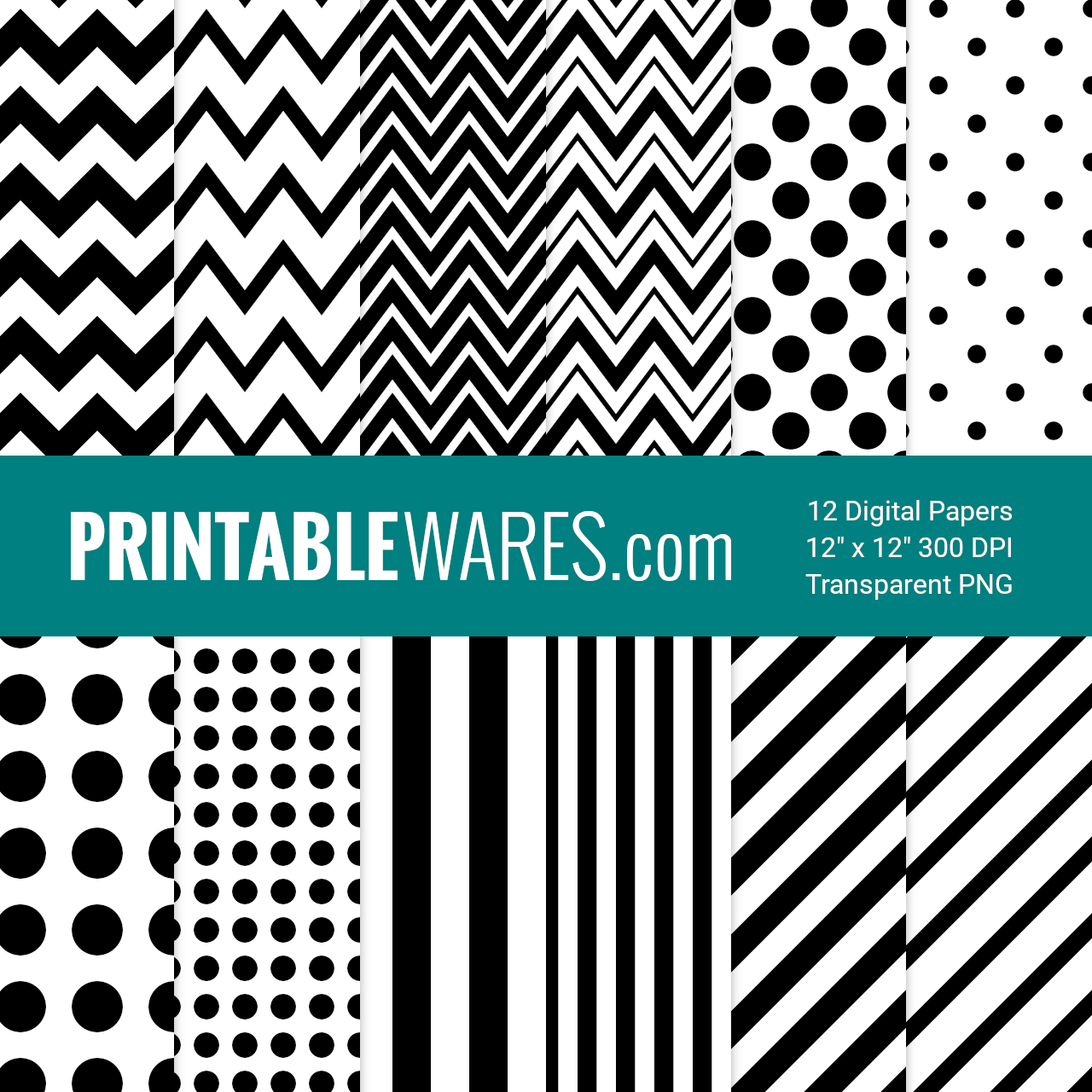 Free Printable Black and White Scrapbook Papers