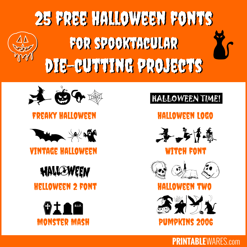Scary Free Cricut Halloween Fonts