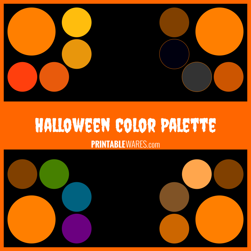 Spooky Halloween Themed Color Palette Fall 2020