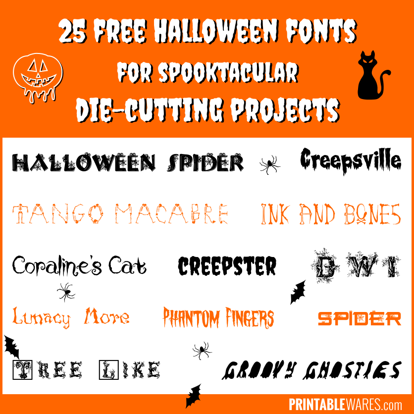 Best Halloween Fonts for Cricut Projects Free & Spooky