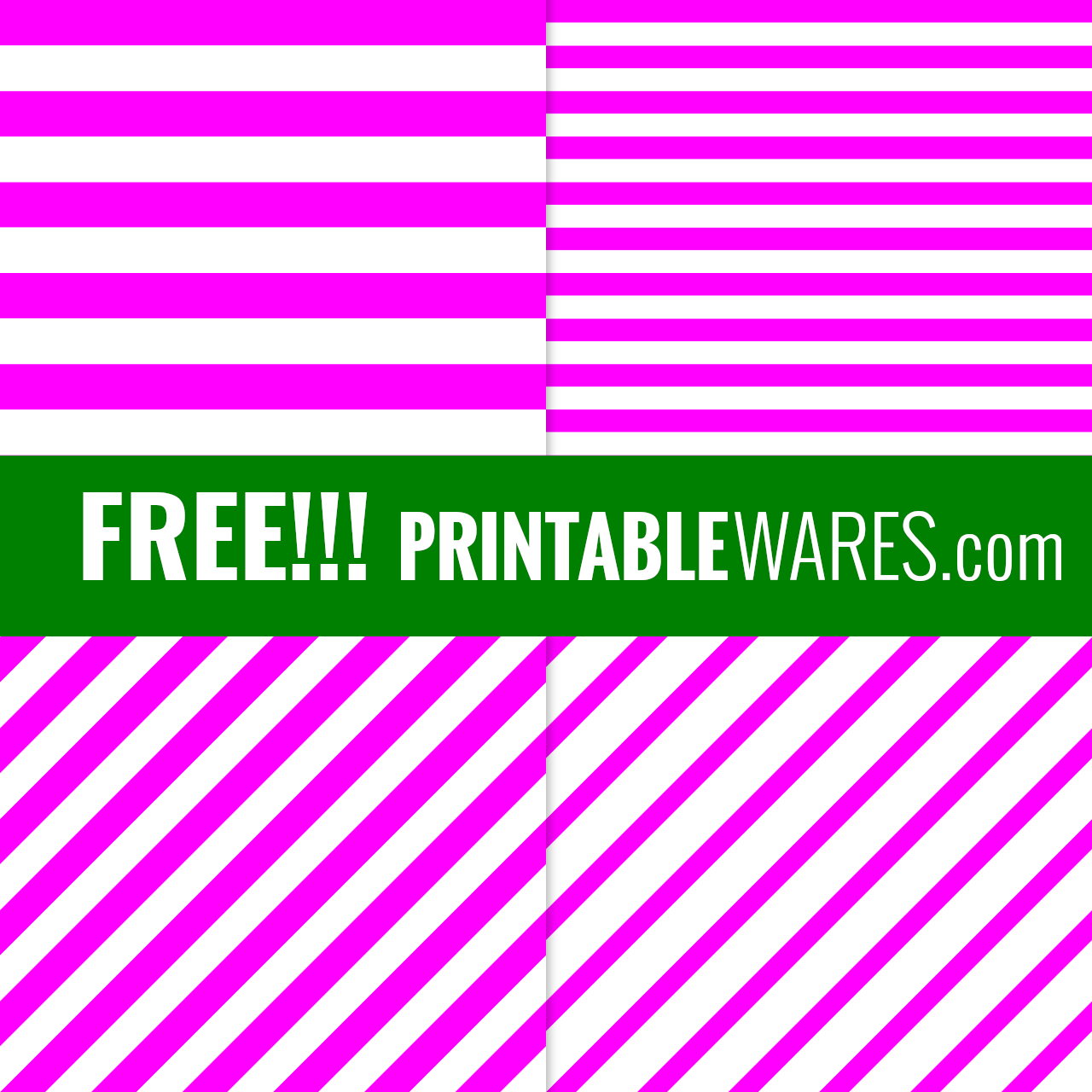Hot Pink Stripes Scrapbook Papers