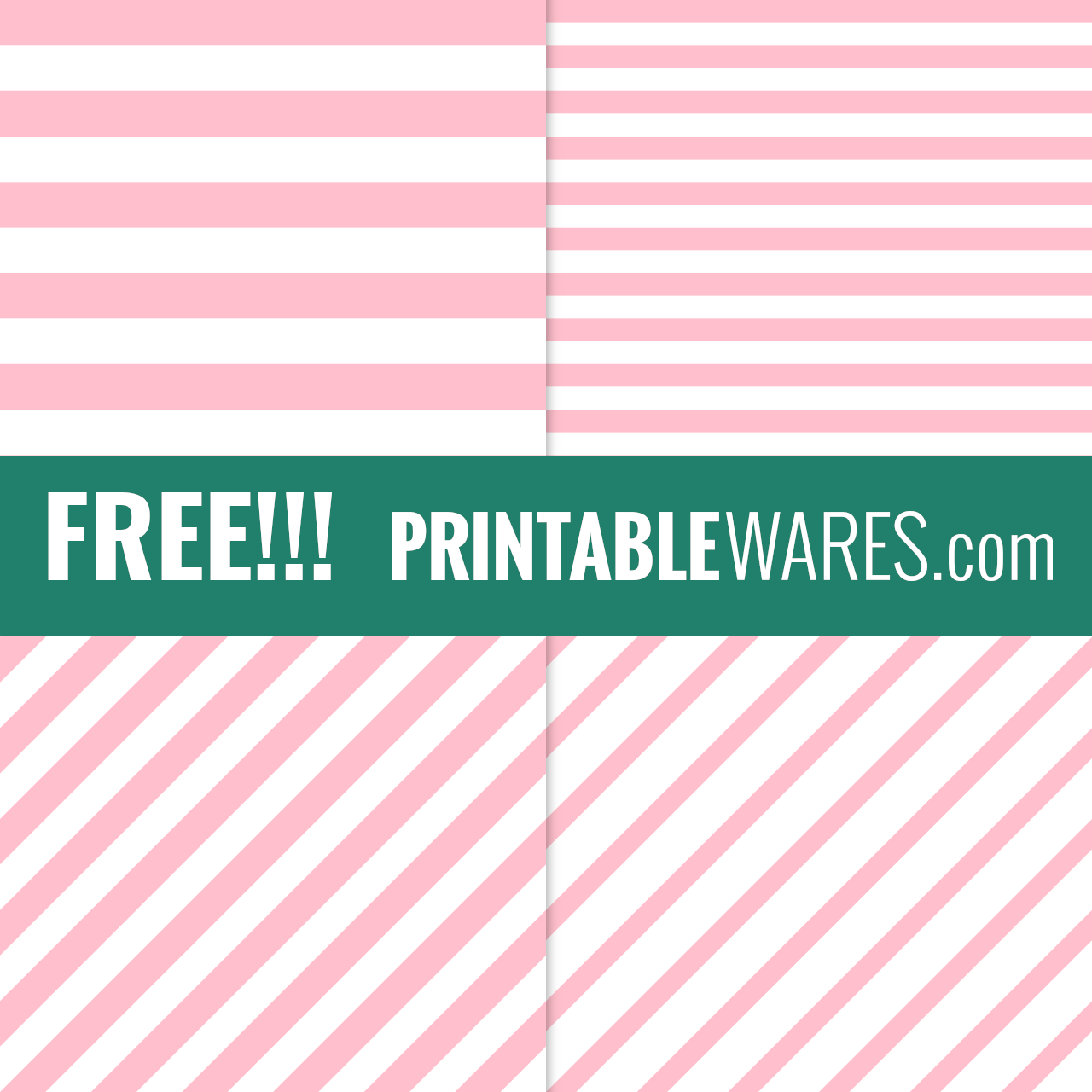 Blush Pink Striped Scrapbook Papers