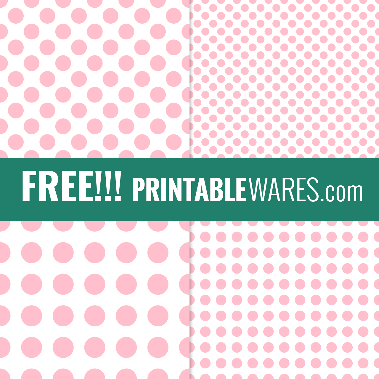 Printable Pink Dots Scrapbook Papers