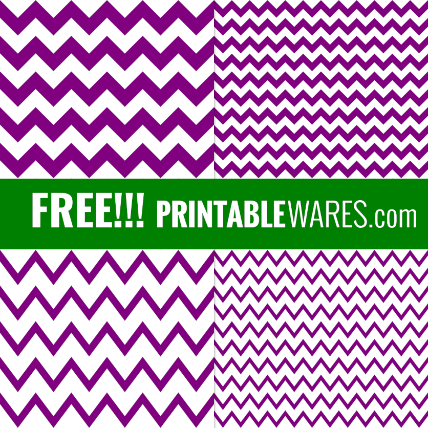 Purple Printable Papers - Chevron Patterns