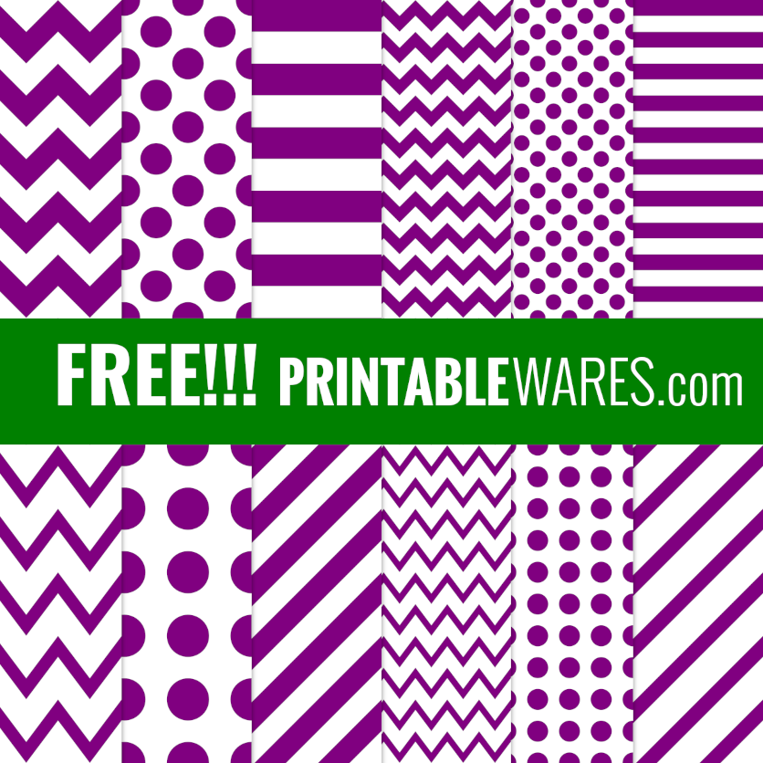 Printable Purple Scrapbook Patterned Papers