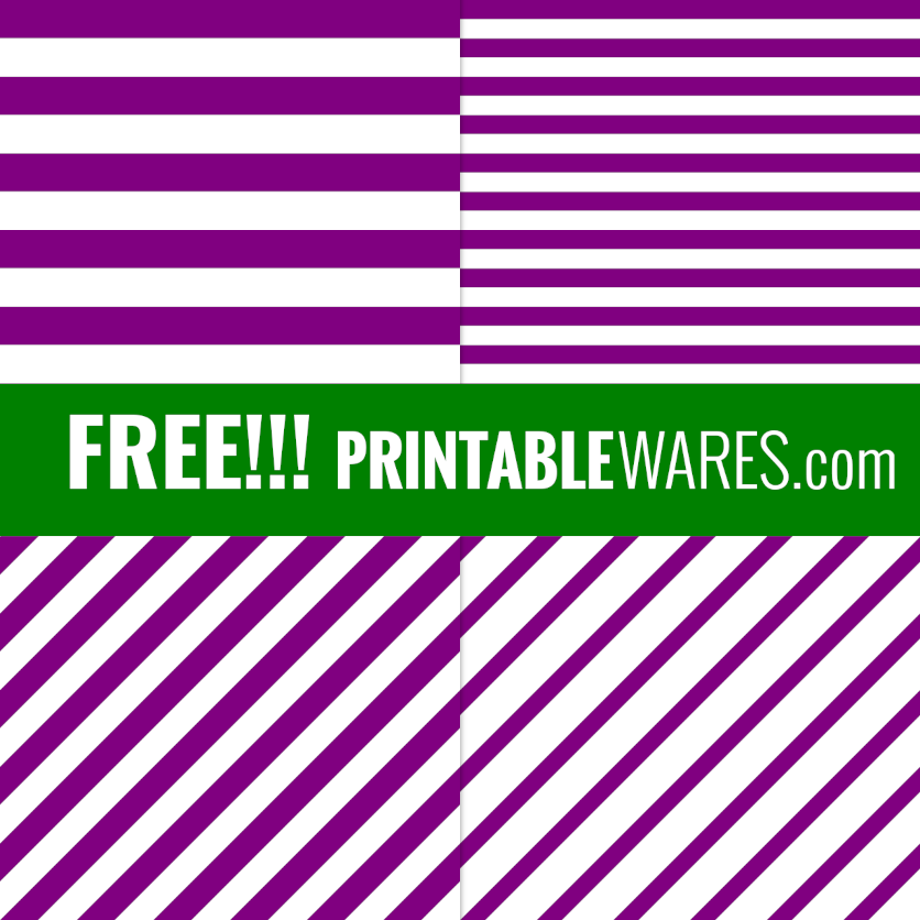 Purple Striped Baby Shower Decoration Papers
